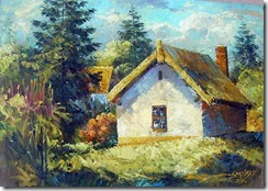 id_509_small_house_in_village_landscape_oil_paintings_b